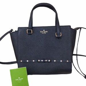 Kate Spade Black Sparkle Satchel Purse Bag